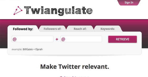 Twiangulate
